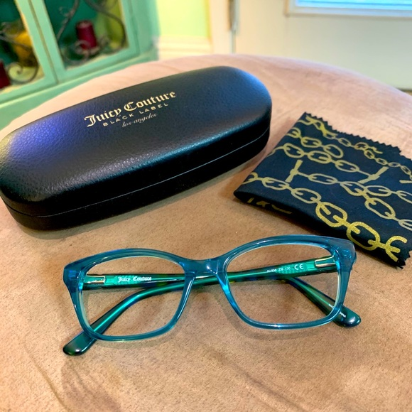 New pair of Juicy Couture Eyeglass Frames Teal